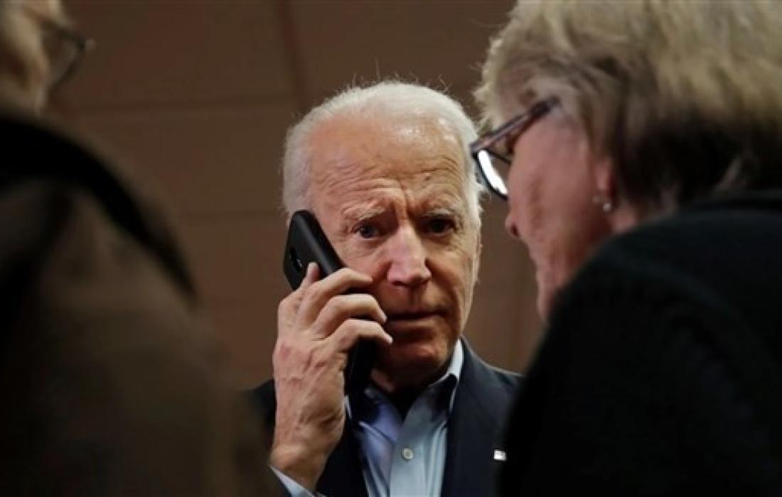 اول اتصال يتلقاه جو بايدن من المتصل.jpg