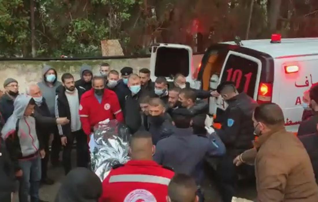 جثمان الشهيد خالد نوفل.
