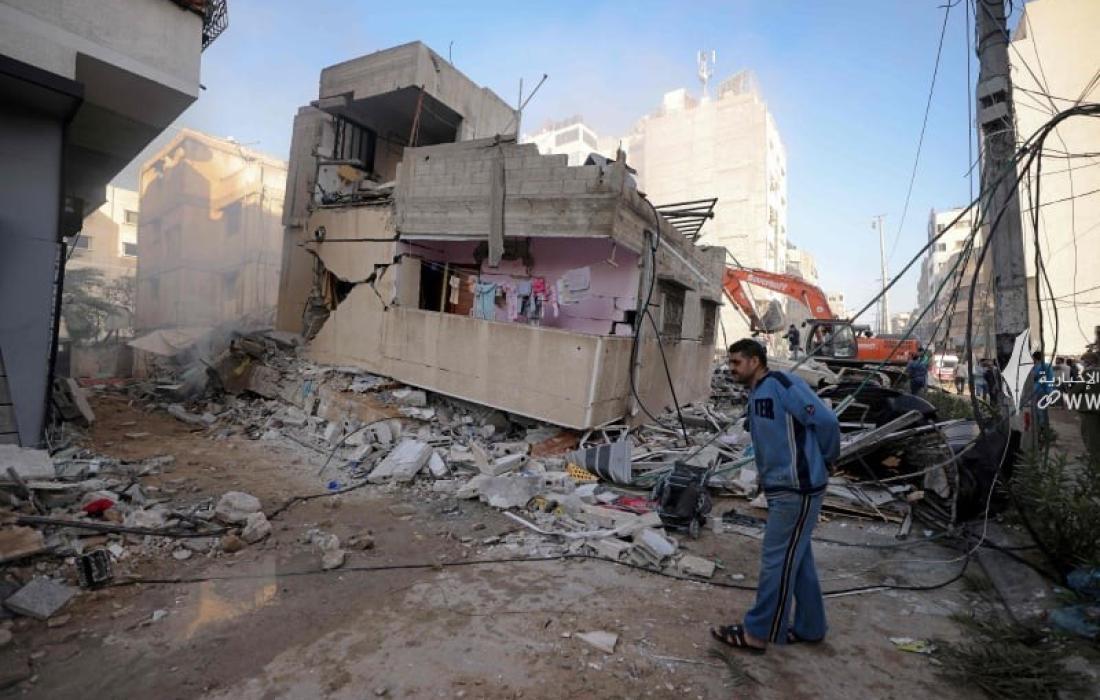 قصف الاحتلال الاسرائيلي على منازل المدنيين بغزة.jpg