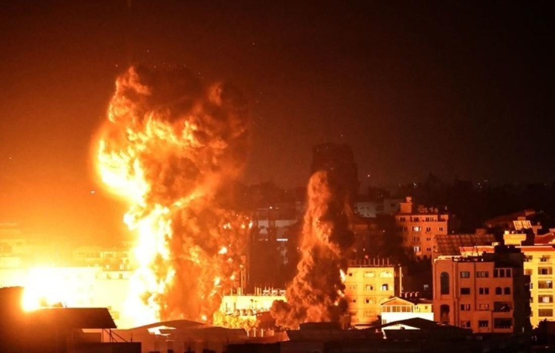 القصف الاسرائيلي قصف العدوان