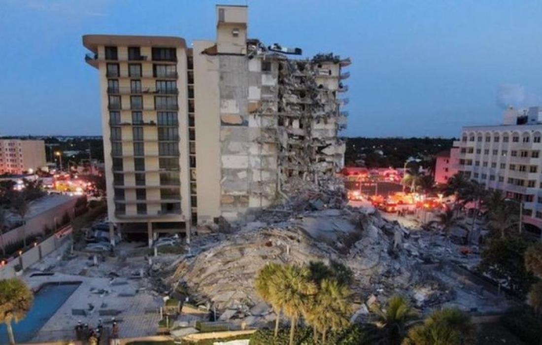 """عشرات المفقود تحت بناية """"يهودية"""" منهارة في الولايات المتحدة"""