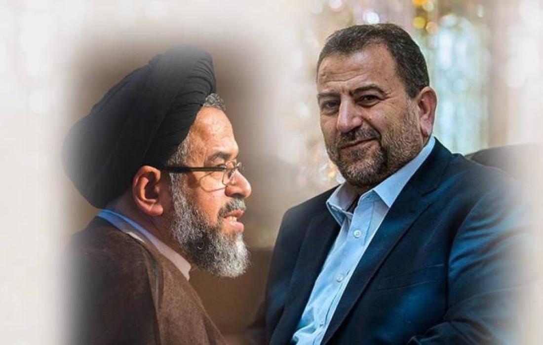 العاروري يلتقي وزير الأمن الإيراني
