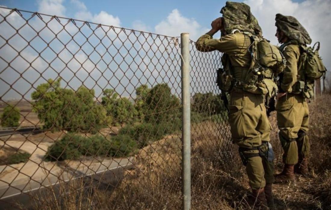مراقبة جيش الاحتلال لـ حدود غزة