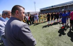 رئيس بلدية دير البلح يشارك في افتتاح بطولة كرة القدم للبتر الدورة الربيعية للتنشيط