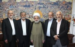 القائد النخالة يستقبل نائب الأمين العام لحزب الله لبحث آخر المستجدات الفلسطينية