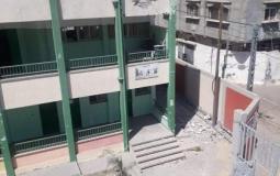 تضرر مدارس جراء العدوان على غزة