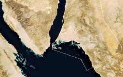خريطة في المكان الذي سينفذ فيه المشروع وهو على اراضي سعودية ومصرية واردنية