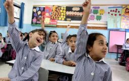 طلبة مدارس الاونروا غزة- صورة من الانترنت