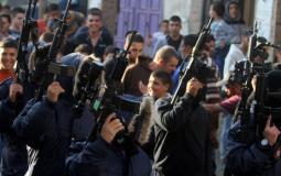 احتجاج في نابلس على امن السلطة
