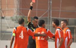 محمد صيدم يتلقى اول بطاقة حمراء في موسم 2015-2016