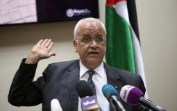 الدكتور صائب عريقات مسؤول دائرة المفاوضات في منظمة التحرير 1