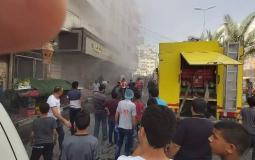 اندلاع حريق بمخبز اليازجي في غزة