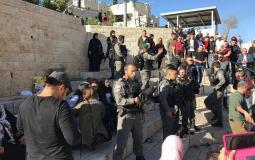 صورة خلال قمع الاحتلال قرب باب العامود