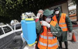 بلدية غزة تُعقِمُ منتزه بلدية غزة لمواجهة فيروس كورونا (2)