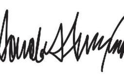 توقيع رونالد ترامب