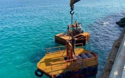 ثابت يتوقع أن تثبيت الأقفاص في مياه بحر غزة 120 طن