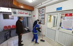 اضرار مستشفى الدرة للاطفال جراء استهداف الاحتلال لأرض خالية بجوار المستشفى