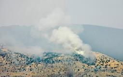 تصاعد الدخان في مزارع شبعا بعد استهداف اسرائيلي