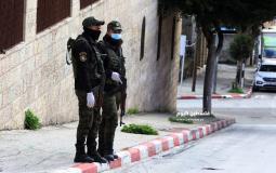 قوات الامن بالضفة المحتلة في ظل جائجة كورونا