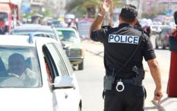 شرطي مرور في الضفة الغربية