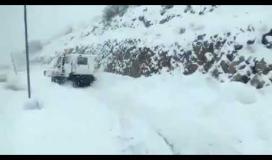 ثلوج في مرتفعات شمال فلسطين المحتلة وجبل الشيخ ...
