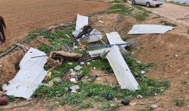 اثار قصف اسرائيلي على اراضي المزارعين (3).jpg