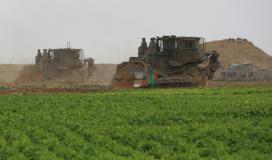 صورة ارشيفية لتوغل لجرافات الاحتلال شرق خانيونس