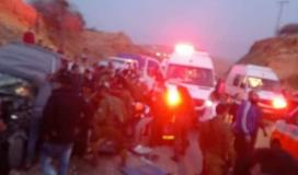 """7 إصابات بحادث سير بين سيارة مدنية وأخرى """"إسرائيلية"""" في الاغوار الشمالية"""