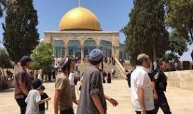 مستوطنون يقتحمون باحات المسجد الأقصى بحماية قوات الاحتلال