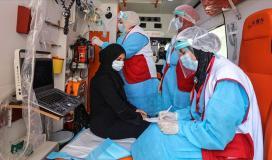كورونا غزة.