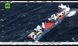 سوء الأحوال الجوية يعيق إنقاذ السفينة الهولندية المنكوبة ..