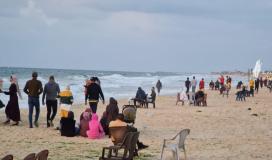 شواطئ بحر غزة.