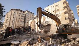 قصف الاحتلال الاسرائيلي على منازل المدنيين في غزة.jpg