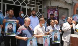 مهجة القدس تنظم وقفة دعم واسناد للشيخ خضر عدنان الذي اعتقلته قوات الاحتلال فجراً (14).JPG