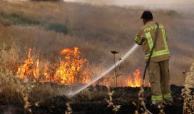 حرائق في المستوطنات المحاذية لقطاع غزة