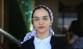 بالصورالطالبة منة الله مشعل حسن البطة الأولى على مستوى فلسطين القسم الأدبي بمعدل 99.7 %  من غزة (12).JPG
