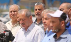 مؤتمر القوى والفصائل الفلسطينية أقيم شرق ملكة بغزة تعقيباً على العدوان الإسرائيلي على قطاع غزة (6).JPG