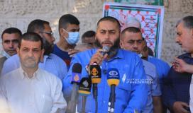 مهجة القدس وحركة المجاهدين ينظمان وقفة تضامن مع الاسرى فى سجون الاحتلال  (9).JPG