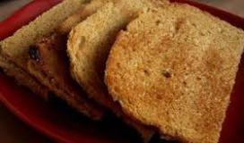 تحميص الخبز.