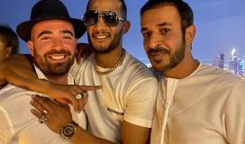 محمد رمضان مع ممثل اسرائيلي في دبي