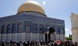 صلاة الجمعة الأولى من رمضان في المسجد الاقصى