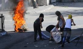 مواجهات بين الشبان وجنود الاحتلال في باب الزاوية وسط الخليل (6)