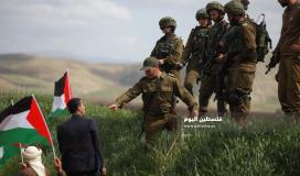 جيش الاحتلال يقمع فعالية زراعة اشجار في سهل البقيعة شرق عاطوف بالاغوار الشمالية (11)