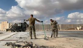 القصف الايراني على قاعدة امريكية في العراق