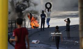 مواجهات بين الشبان وجنود الاحتلال في باب الزاوية وسط الخليل (4)
