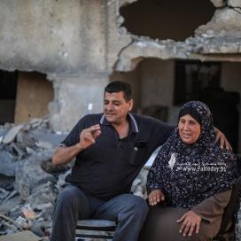 الاحتلال يدمر بيت الزوجين ولكن لم يدمر حبهما