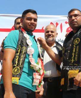 بالصور:الرابطة الإسلامية تعلن عن فعاليات فوج سيف القدس في قطاع غزة.