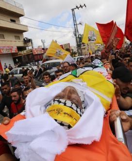 بالصور:وداع وتشييع جثمان الشهيد الأسير حسين مسالمة في مدينة بيت لحم