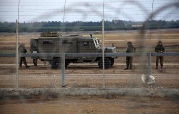 جنود الاحتلال على حدود غزة